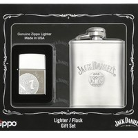 My Associates Store - Zippo Jack Daniels Lighter Flask Gift Set