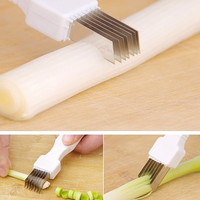 Retail Vegetable Fruit Onion Cutter Slicer Peeler Chopper Shredder Kitchen Gadget Tool Scallion knife Shred Tools Slice Cutlery