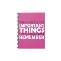 All the Important Things that I Must Remember Spiral Note Book from Zazzle.com