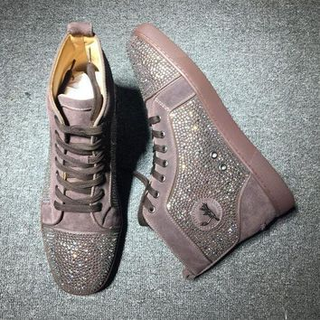 DCCK2 Cl Christian Louboutin Rhinestone Mid Strass Style #1917 Sneakers Fashion Shoes