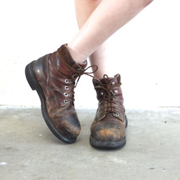 vintage leather work boots