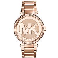 Michael Kors Parker Logo Dial Watch - Rose Gold