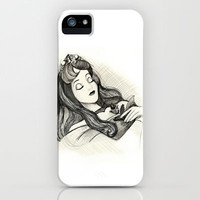 Sleeping Beauty iPhone & iPod Case by MaithaDemithan
