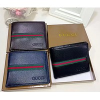 Gucci cross sectional Leather Fashion Wallet [305684119581]