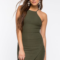 Necessary Halter Origami Dress