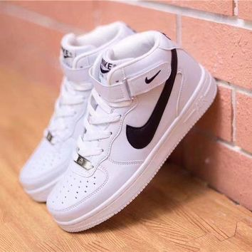"""""""Nike Air Force 1"""" Unisex Casual Fashion Classic High Help Plate Shoes Couple Sneakers"""