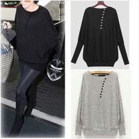 S-XXL Women Long Sleeve Oversized Batwing Knit Sweater Loose Jumper Pullover Top = 1945802628