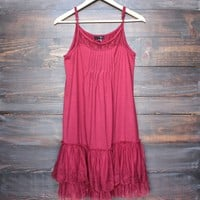 whimsical fairytale lace dress slip - red