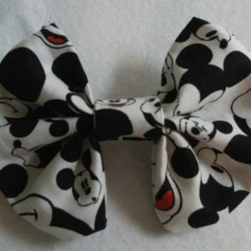 """Hey, Mickey You So Fine"""" hair bow, perfect for all ages"""