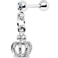 King Crown Dangle Cartilage Earring