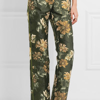 F.R.S For Restless Sleepers - Jacquard straight-leg pants