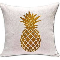 Lovely Shape Tropical Pineapple Fruit War Massager Decorative Pillows Fiber Emoji Enjoyment Fiber Flax Gift Kids' Gift Partner POP Art