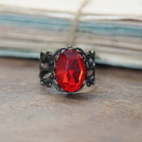 Ruby Amulet Ring