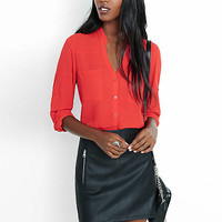 Original Fit Band Collar Portofino Shirt from EXPRESS