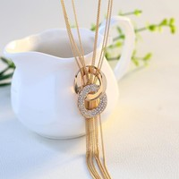 Jewelry Gift Shiny New Arrival Korean Sweater Chain Stylish Tassels Accessory Necklace [10231544263]