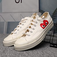 Converse x CDG PLAY Canvas Fashion Old Skool Sneakers Sport Shoes