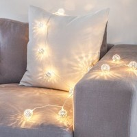Silver Tangier Indoor Fairy Lights with 16 Warm White LEDs by Lights4fun