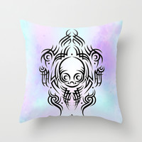 Alien Tribal Tattoo Throw Pillow by Chobopop