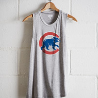 Tailgate Women's Chicago Cubs Tank, Gray Heather