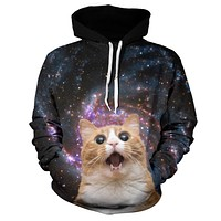Trippy Cat In Space Hoodie