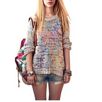'The Kate' Multi Color Long Sleeve Knitted Sweater