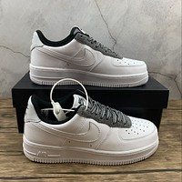 Morechoice Tuhz Nike Air Force 1 07 Lv8 White Grey Low Sneakers Casual Skaet Shoes Ck4363-100
