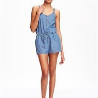 Chambray Romper for Women