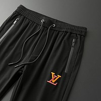 LV vintage embroidered alphabet men's and women's wild sports trousers