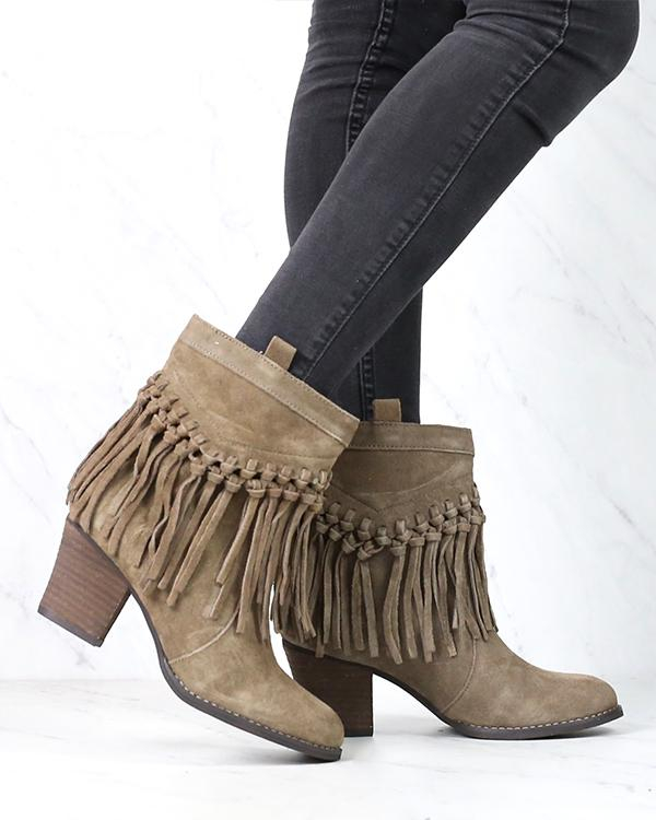 Image of Sbicca - Sound Suede Leather Fringe Bootie in More Colors
