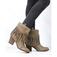 Sbicca - Sound Suede Leather Fringe Bootie in More Colors