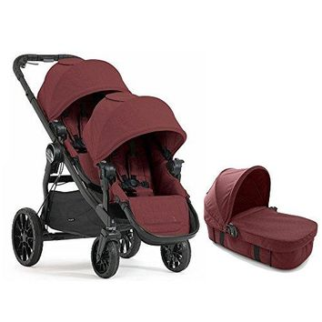 2017 LUX Double Stroller WITH LUX Bassinet Twin Pram Luxury And Fashion