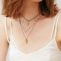 Triple Delicate Necklace- Gold One