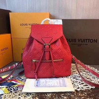 LV Louis Vuitton WOMEN'S MONOGRAM LEATHER Sperone BACKPACK BAG-KUYOU