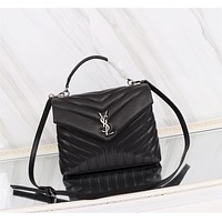 YSL SAINT LAURENT WOMEN'S LEATHER LOULOU HANDBAG SHOULDER BAG