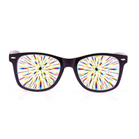 GloFX Ultimate Diffraction Glasses - Matte Black Limited Edition - Rave Eyewear, Ravewear, EDM Festivals, Light Shows, Rainbow Prism Kaleidoscope Refraction Lenses