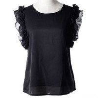Cute Summer Tops Shirt Women Blusas S-XL O Neck Puff Sleeve Pullover Lace Bow Chiffon Shirt Chemise Femme Blouse Plus Size