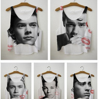 BID WAR~ for One Direction Crop Top  LipStick Kiss Exclusive Collection   fresh-tops.com