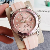 Rolex new splicing color personality men's and women's casual business watche