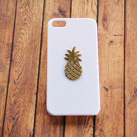 Pineapple iPhone 6 Case iPhone 5s White and Gold Gifts Girls Gold and White Phone Case Samsung Galaxy Pineapple Accessories iPhone 6 Plus