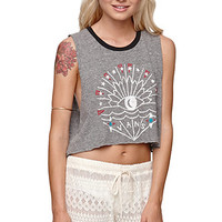 Vans Tough Enough Cropped T-Shirt - Womens Tee - Gray - Extra Large