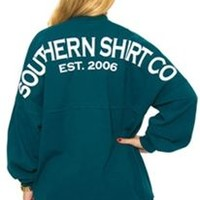 Southern Shirt Company Crew Neck Jersey Pullover in Tuscan Teal