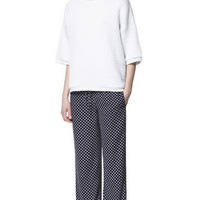PRINTED WIDE TROUSERS - Trousers - Woman | ZARA United States