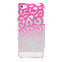 Color Gradient Hollow Vine iPhone 5 Case - Pink