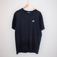 90s nike tshirt minimalist navy blue cotton vintage nike athletic tee medium