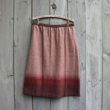 Vintage skirt - Ombre tweed 1970s A-line skirt