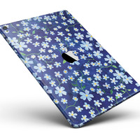 "Flowers with Stems over Blue Watercolor Full Body Skin for the iPad Pro (12.9"" or 9.7"" available)"
