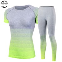 2016 Brand Women's tracksuits Yoga Sets Breathable Sport Suit Fitness Gym Running Set Yoga Shirt Top and Yoga Pants Gym Set Girl