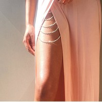 New jewelry fashion sexy diamond tassel body chain