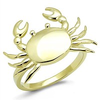 Sea Crab IP Gold Stainless Steel Ring