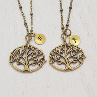 tree of life necklace, best friend necklace, bridesmaid gift, personalized necklace, tree necklace, bff gifts, tree jewelry, friendship gift
